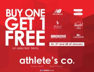 Athletes Co Sale buy 1 get 1 free