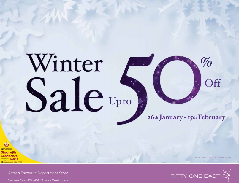 Fifty One East Winter Sale 26-01-17
