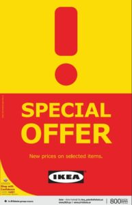 IKEA Special Offers on Selected Items