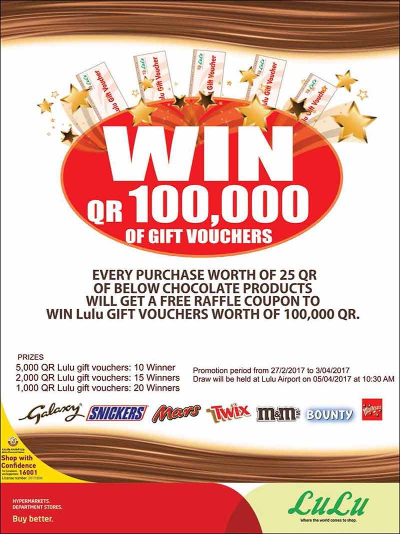 Hypermart Voucher 200 000 Daftar Harga Terbaru Dan Terlengkap Agung 50000 Bth Lulu Hypermarket Qatar 10 20 30 Qr Until 05 03 2018