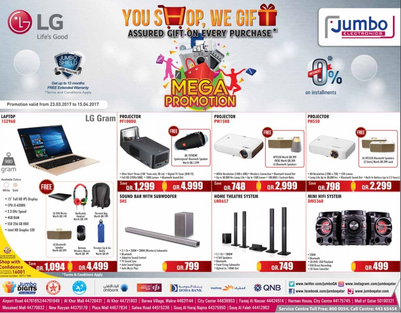 Jumbo Electronics Mega Sale until 15-04-17