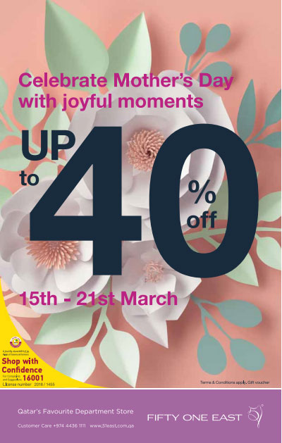 51 East Mothers Day Offers Until 21-03-2018
