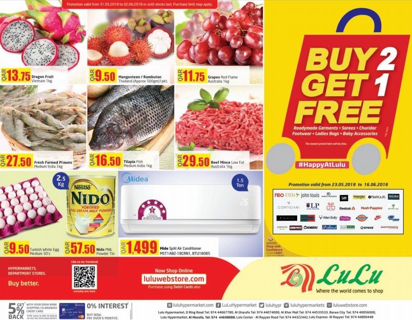 Lulu Hypermarket Weekend Offers 31-05 to 02-06-2018