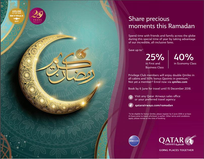 Qatar Airways Ramadan Sale