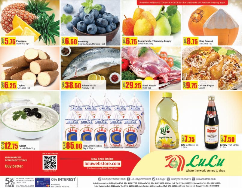 Lulu Hypermarket Weekend Offers 07-06 until 09-06-2018