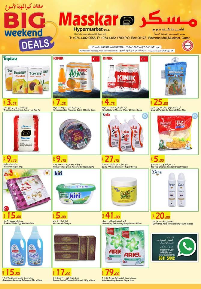 Masskar Hypermarket Weekend Offers Until 02-06-2018